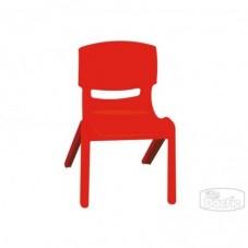 Silla Infantil Plástica Roja