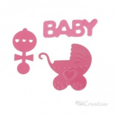 Confeti Baby Shower Rosado...