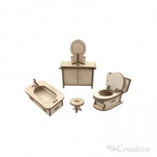 Mueble Miniatura Armable Baño