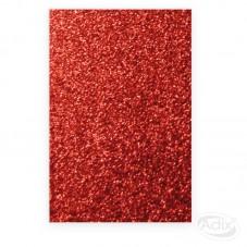 Goma Eva Glitter Rojo 10...