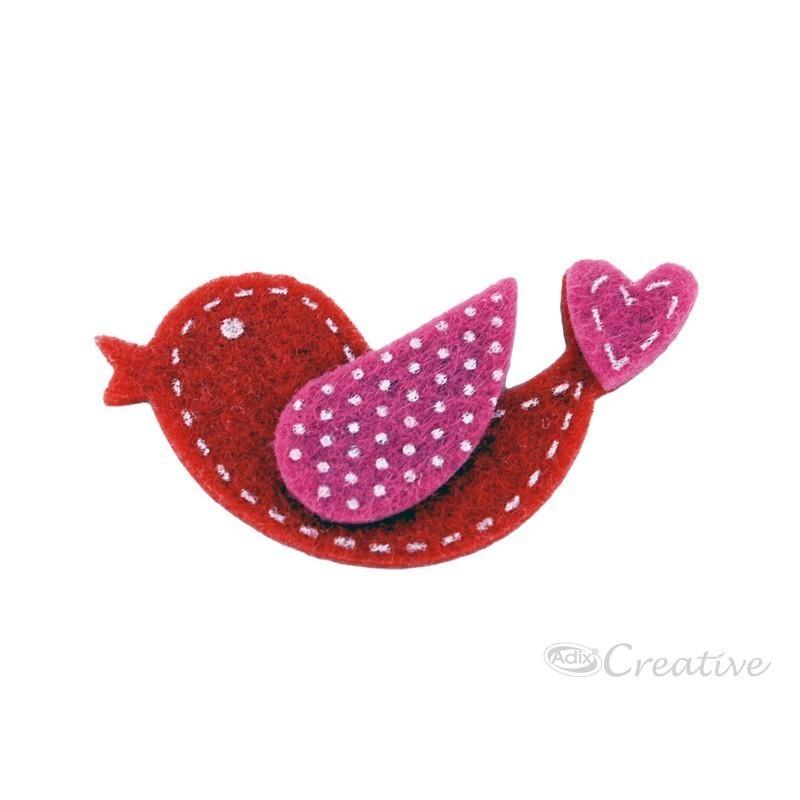 Cuentas Plásticas Corazón Rosadas